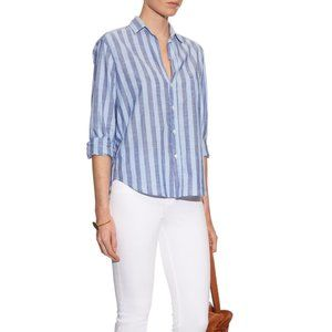 Frank & Eileen Eileen Striped Shirt Blue Striped